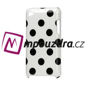 Plastové puzdro pre iPod Touch 4 - biele bodkované - 1