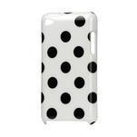 Plastové puzdro na iPod Touch 4 - biele puntíkaté - 1/2