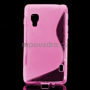 Gélové S-line  puzdro pre LG Optimus L5 II E460- růžové - 1