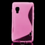 Gélové S-line  puzdro pre LG Optimus L5 II E460- růžové - 1/5