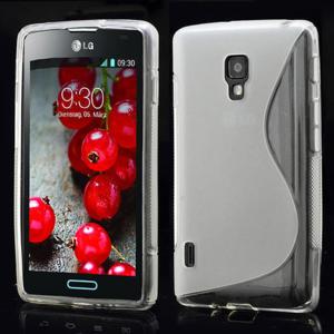 Gélové S-line puzdro pre LG Optimus L7 II P710- šedé - 1