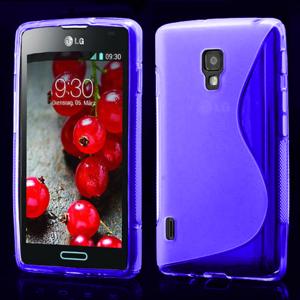 Gélové S-line puzdro pre LG Optimus L7 II P710- fialové - 1