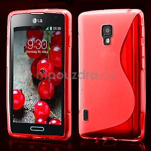 Gélové S-line puzdro pre LG Optimus L7 II P710- červené - 1