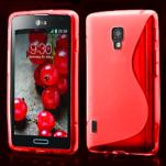 Gélové S-line puzdro pre LG Optimus L7 II P710- červené - 1/4