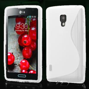 Gélové S-line puzdro pre LG Optimus L7 II P710- biele