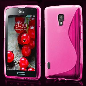Gélové S-line puzdro pre LG Optimus L7 II P710- ružové - 1