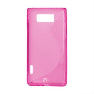 Gélové S-line puzdro pre LG Optimus L7 P700- růžové