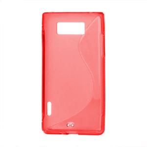 Gélové S-line puzdro pre LG Optimus L7 P700- červené