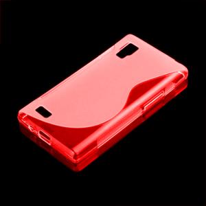 Gélové S-line puzdro pre LG Optimus L9 P760- červené - 1
