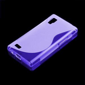 Gélové S-line puzdro pre LG Optimus L9 P760- fialové - 1