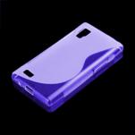 Gélové S-line puzdro pre LG Optimus L9 P760- fialové - 1/2