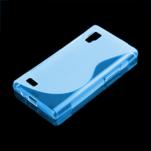Gélové S-line puzdro pre LG Optimus L9 P760- modré - 1/2