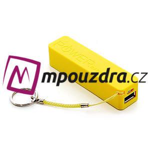2600mAh externí baterie Power Bank - žltá - 1
