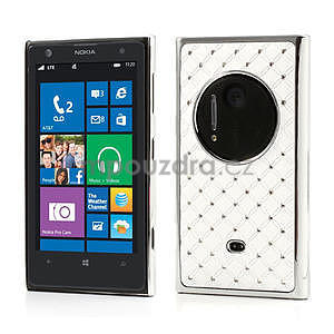 Drahokamové puzdro pre Nokia Lumia 1020- biele - 1