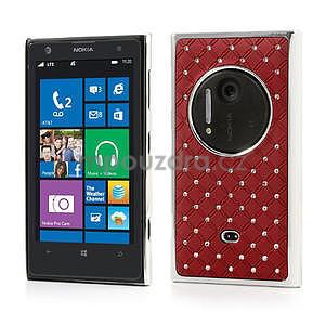Drahokamové puzdro pre Nokia Lumia 1020- červené - 1