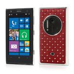 Drahokamové puzdro pre Nokia Lumia 1020- červené - 1/6