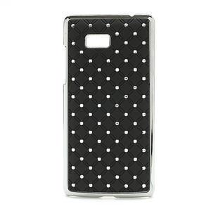 Drahokamové puzdro pre HTC Desire 600- čierné - 1