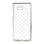 Drahokamové puzdro pre HTC Desire 600- biele - 1/4