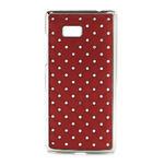 Drahokamové puzdro pre HTC Desire 600- červené - 1/5