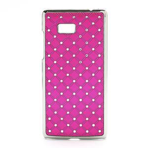Drahokamové puzdro pre HTC Desire 600- ružové - 1