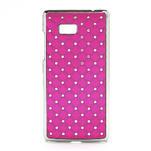 Drahokamové puzdro pre HTC Desire 600- ružové - 1/5