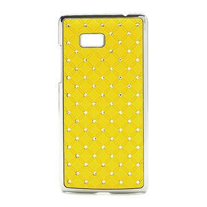 Drahokamové puzdro pre HTC Desire 600 -žlté - 1
