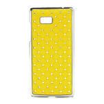 Drahokamové puzdro pre HTC Desire 600 -žlté - 1/5