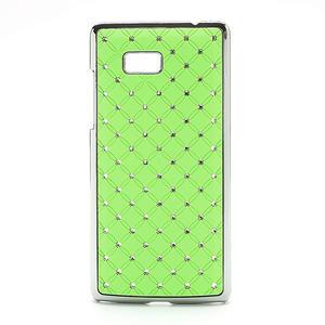 Drahokamové puzdro pre HTC Desire 600- zelené - 1