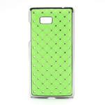 Drahokamové puzdro pre HTC Desire 600- zelené - 1/5