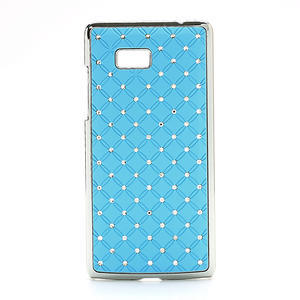 Drahokamové puzdro pre HTC Desire 600- svetlo modré - 1