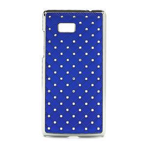 Drahokamové puzdro pre HTC Desire 600- modré - 1