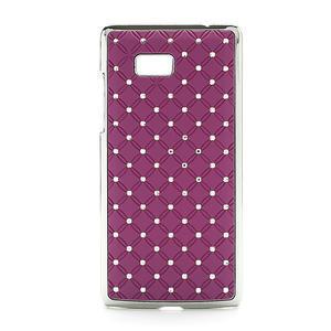 Drahokamové puzdro pre HTC Desire 600- fialové - 1