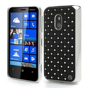 Drahokamové puzdro na Nokia Lumia 620- čierné - 1