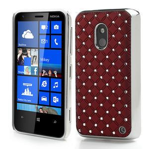 Drahokamové puzdro na Nokia Lumia 620- červené - 1