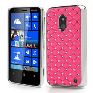 Drahokamové puzdro na Nokia Lumia 620- světlerůžové - 1