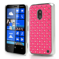 Drahokamové puzdro na Nokia Lumia 620- svetleružové - 1/4