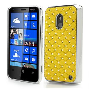 Drahokamové puzdro na Nokia Lumia 620- žlté - 1