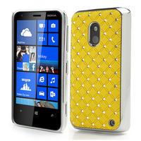 Drahokamové puzdro na Nokia Lumia 620- žlté - 1/3