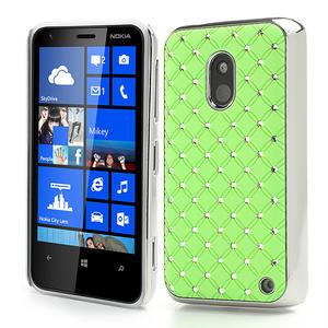 Drahokamové puzdro na Nokia Lumia 620- zelené - 1