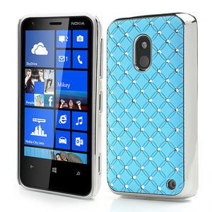 Drahokamové puzdro na Nokia Lumia 620- svetlo modré - 1