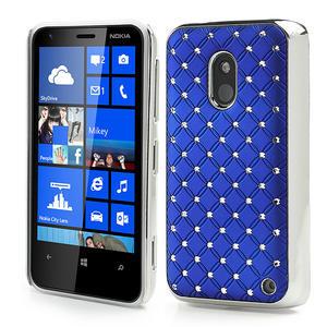 Drahokamové puzdro na Nokia Lumia 620- modré - 1