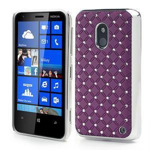 Drahokamové puzdro na Nokia Lumia 620- fialové - 1