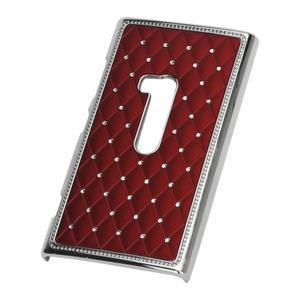 Drahokamové puzdro na Nokia Lumia 920- červené