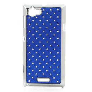 Drahokamové puzdro na Sony Xperia L C2105- modré - 1