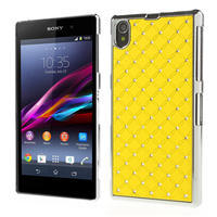 Drahokamovej puzdro pre Sony Xperia Z1 C6903 L39- žlté - 1/4