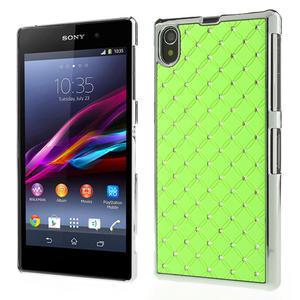Drahokamovej puzdro pre Sony Xperia Z1 C6903 L39- zelené - 1