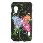Plastové puzdro pre LG Optimus L5 Dual E455- vlající motýl - 1/3