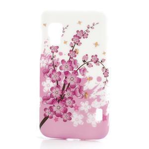 Plastové puzdro pre LG Optimus L5 Dual E455- kvitnúce vetvička - 1