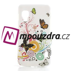 Plastové puzdro pre LG Optimus L5 Dual E455- živé motýli - 1