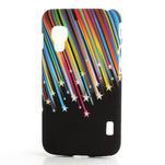 Plastové puzdro pre LG Optimus L5 Dual E455- meteor farebný - 1/3